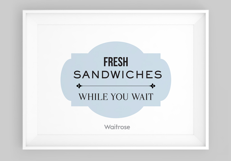 Waitrose Poster